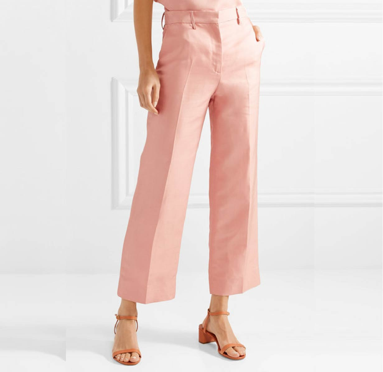 Silk Shantung Pants