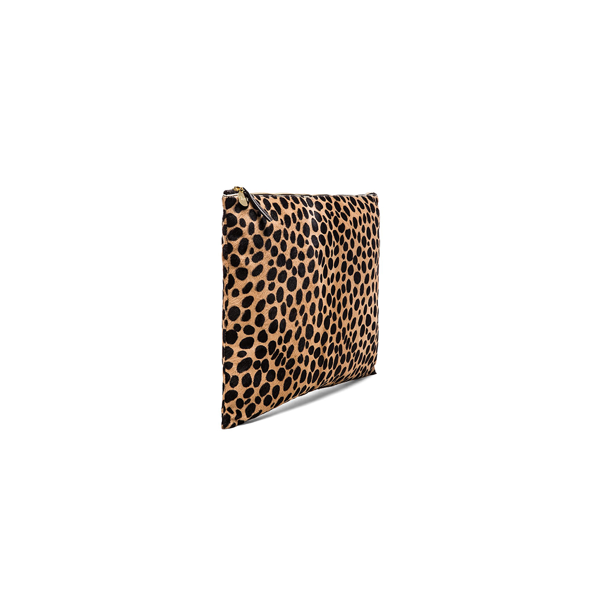 3625ad0f6161 Clare Vivier oversized leopard-print calf-hair clutch - Find Love Buy